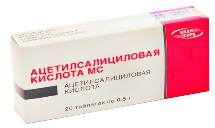 Ацетилсалициловая кислота - анальгетик от боли в суставах