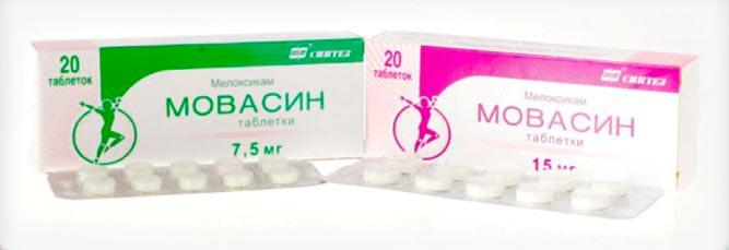 Таблетки Мовасин при полиартрите суставов