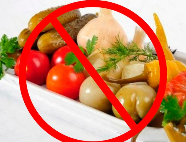 Нельзя злоупотреблять острой и соленой пищей