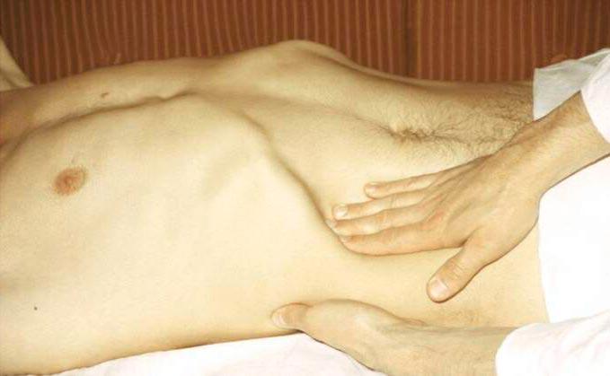 Пальпация -один из методов диагностики причин боли в правом подреберье