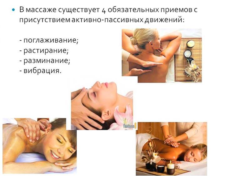 Четыре основных техники проведения массажа