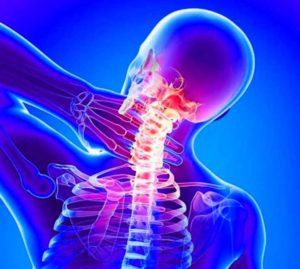 Воспаленный участок шеи