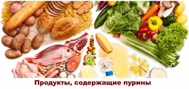 Пуриносодержащие продукты