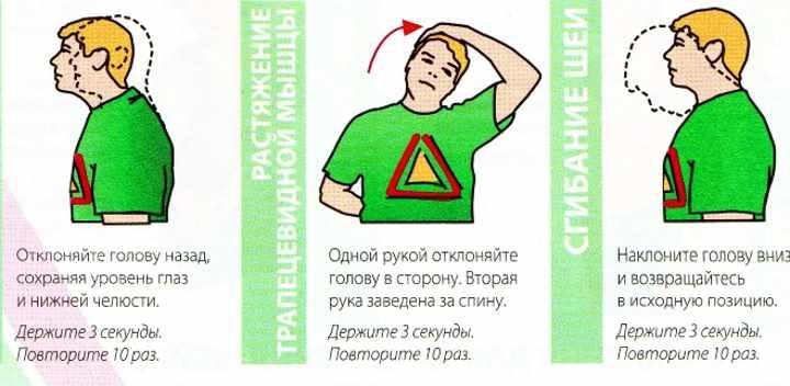 Комплекс упражнений для шеи - наклоны