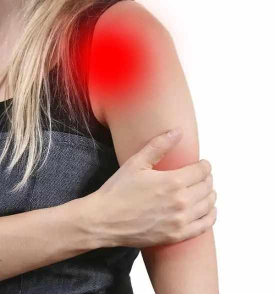Локализация боли от локтя до плеча