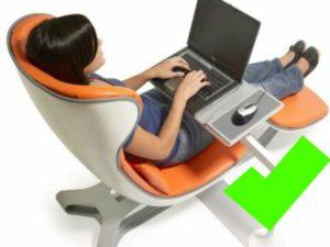 Кресло для ПК оранжевого цвета