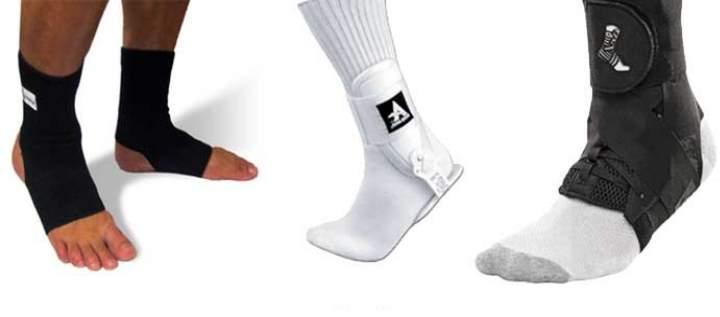 Вид лангетки на ноге - для подошвы