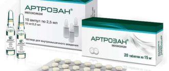 Артрозан в таблетках и уколах