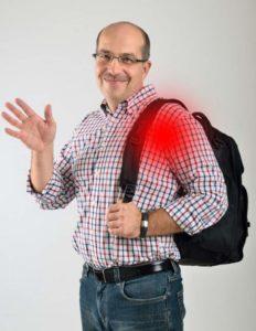 Рюкзак на плече