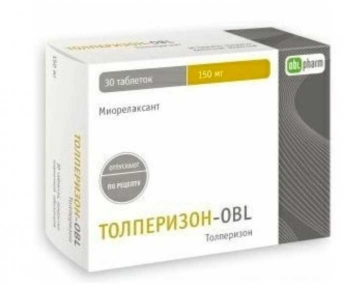 Толперизон-OBL - аналог Мидокалма