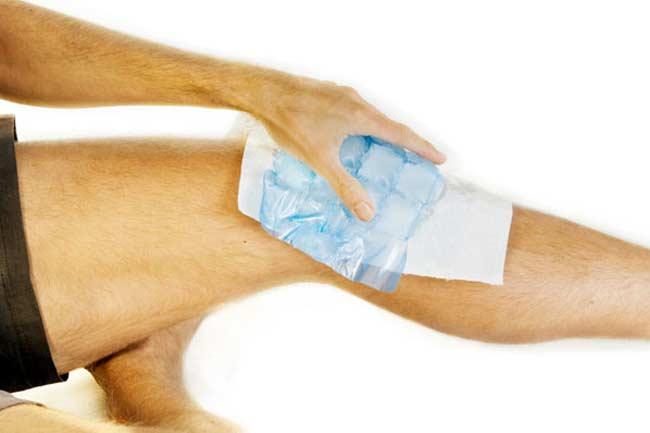 Холодный компресс для устранения красноты от укола остенила