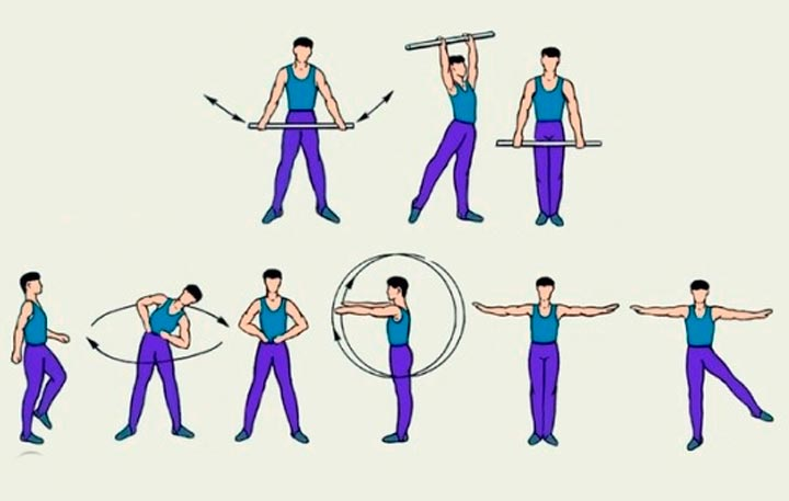 Растяжка мышц и сухожилий, стоя